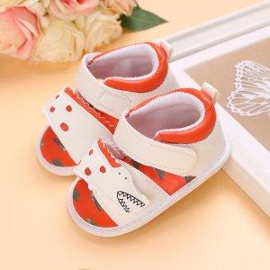 Детские сандалии на липучке в мультипликационной форме SHEIN. Цвет: белый