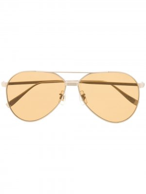 Солнцезащитные очки-авиаторы Dunhill. Цвет: коричневый