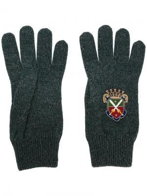 Перчатки Heraldic Sicilia Dolce & Gabbana. Цвет: зелёный