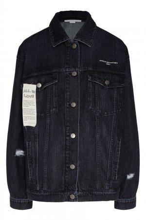 Черная джинсовая куртка Stella McCartney. Цвет: черный