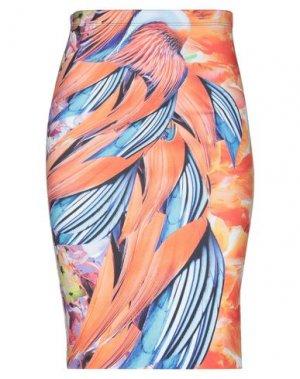 Юбка до колена CLOVER CANYON. Цвет: оранжевый
