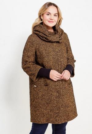 Пальто Оджи. Цвет: коричневый