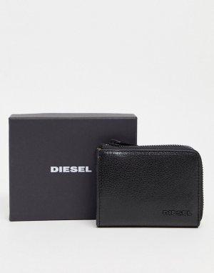 Кожаный бумажник на молнии l-passm-Черный Diesel