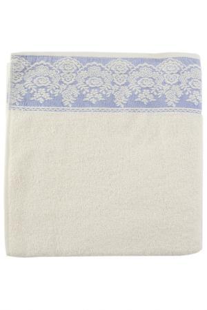 Полотенце махровое, 70х140 см BRIELLE. Цвет: кремовый, голубой