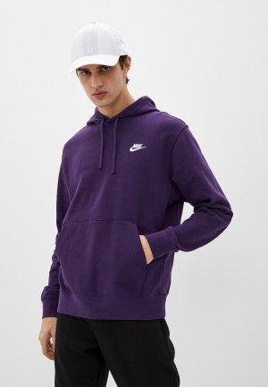 Худи Nike M NSW CLUB HOODIE PO FT. Цвет: фиолетовый