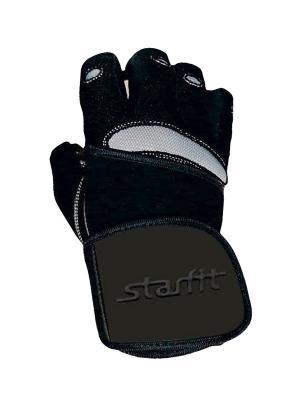 Перчатки атлетические SU-124, черные/серые Starfit. Цвет: черный, серый
