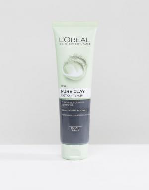 Очищающая пенка для умывания с глиной LOreal Paris Pure Clay-Бесцветный L'Oreal