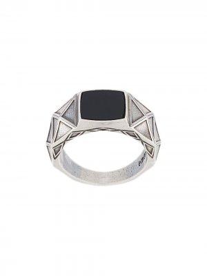 Перстень Stone Emanuele Bicocchi. Цвет: серебристый