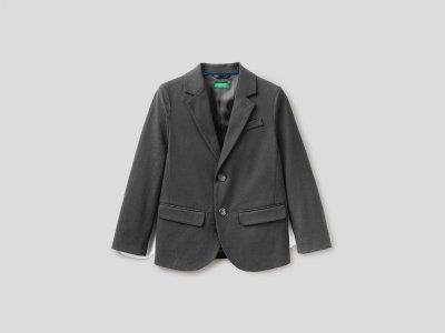Классический пиджак Benetton. Цвет: серый