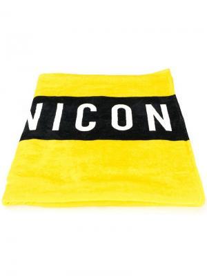 Пляжное полотенце с принтом Icon Dsquared2. Цвет: желтый
