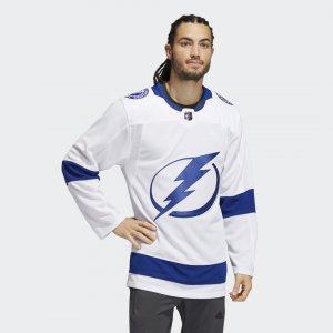 Оригинальный хоккейный свитер Lightning Away Performance adidas. Цвет: белый