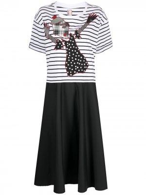 Платье-футболка с графичным принтом Antonio Marras. Цвет: белый
