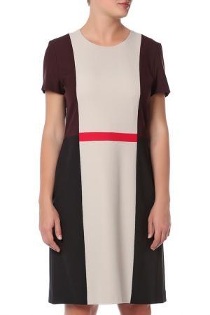 Платье Hugo Boss. Цвет: бежевый, черный