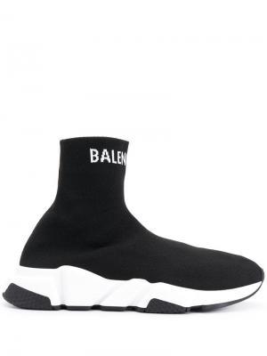Кроссовки Speed Balenciaga. Цвет: черный