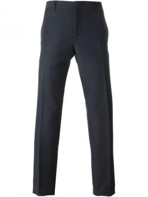 Классические брюки Burberry Prorsum. Цвет: синий