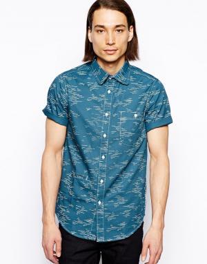 Рубашка с волнистым принтом Altamont. Цвет: синий
