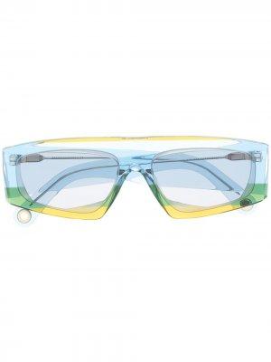 Солнцезащитные очки Yauco в прямоугольной оправе Jacquemus. Цвет: синий