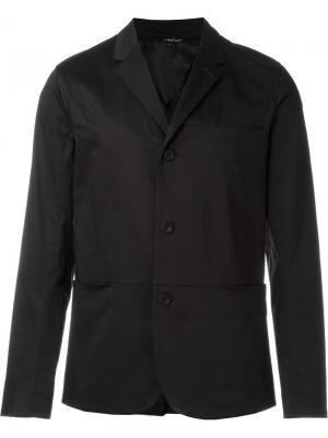 Однобортный пиджак с простроченной отделкой Helmut Lang. Цвет: чёрный