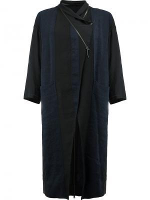 Пальто в полоску Ilaria Nistri. Цвет: чёрный