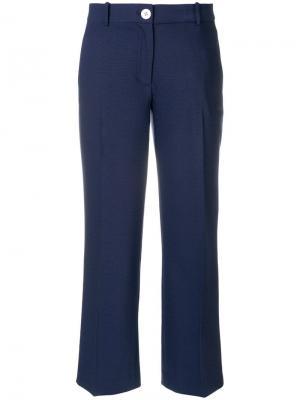 Укороченные брюки прямого кроя Michael Kors. Цвет: синий