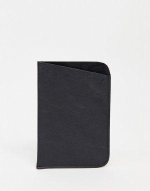 Черная кожаная обложка для паспорта -Черный Urbancode