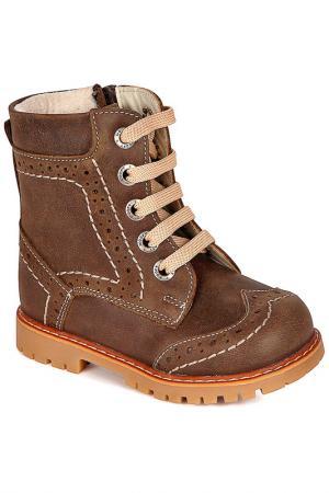 Ботиночки WOOPY. Цвет: коричневый