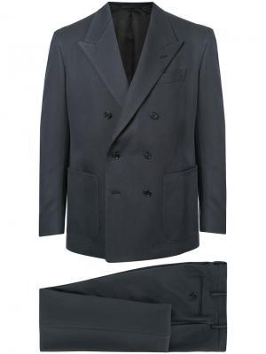 Двубортный пиджак United Arrows. Цвет: синий