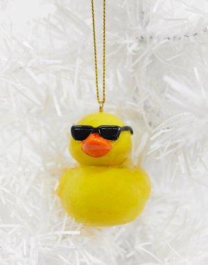 Новогоднее украшение в виде утки солнцезащитных очках Typo-Желтый TYPO