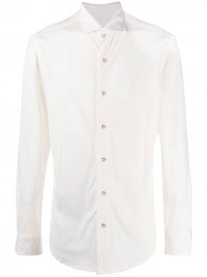 Рубашка с длинными рукавами Boglioli. Цвет: белый