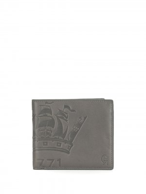Кошелек с тисненым логотипом Gieves & Hawkes. Цвет: серый