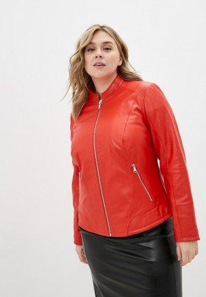 Куртка кожаная Gerry Weber. Цвет: красный