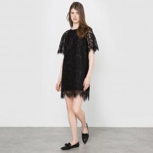 Платье вечернее из кружева LA REDOUTE COLLECTIONS. Цвет: черный