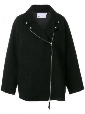 Байкерская куртка свободного кроя T By Alexander Wang. Цвет: черный