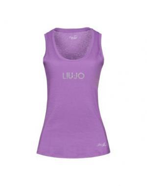Футболка LIU •JO. Цвет: розовато-лиловый