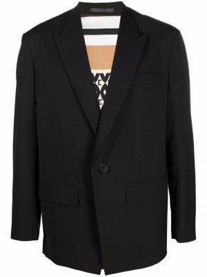 Однобортный пиджак с заостренными лацканами Valentino. Цвет: черный