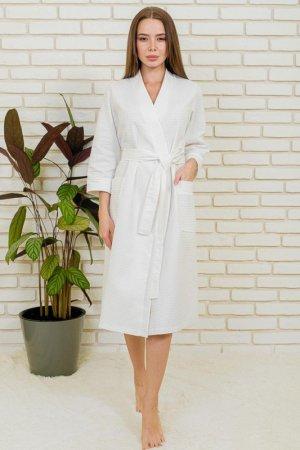 Халат банный Lika dress. Цвет: белый