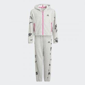 Спортивный костюм Sportswear adidas. Цвет: серый