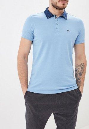 Поло Colins Colin's. Цвет: голубой