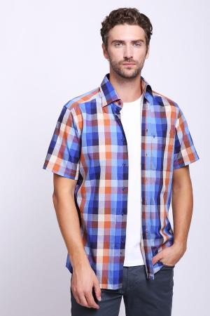Мужские рубашки с коротким рукавом Pezzo. Цвет: разноцветный