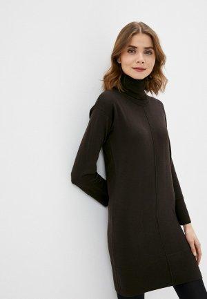 Платье Alpha Studio. Цвет: коричневый