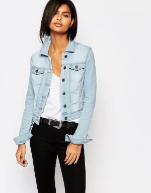 Светлая джинсовая куртка Vero Moda. Цвет: серый