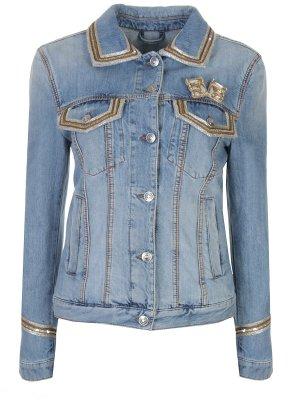 Джинсовая куртка с декором ERMANNO SCERVINO