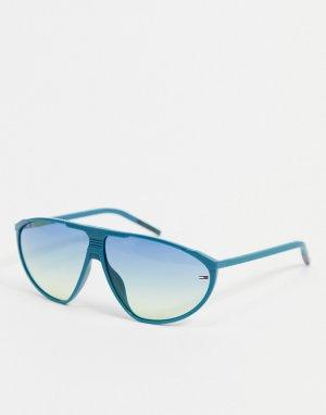 Солнцезащитные очки унисекс в зеленой оправе 0027/S-Зеленый цвет Tommy Jeans