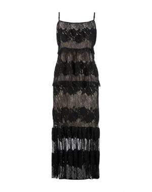 Длинное платье ANNA RACHELE. Цвет: черный