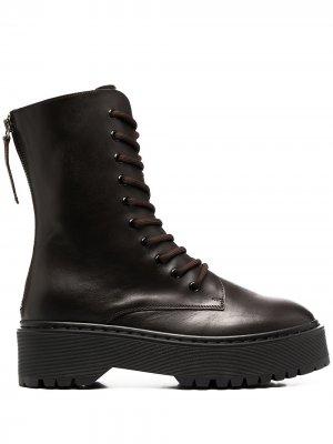 Байкерские ботинки P.A.R.O.S.H.. Цвет: коричневый