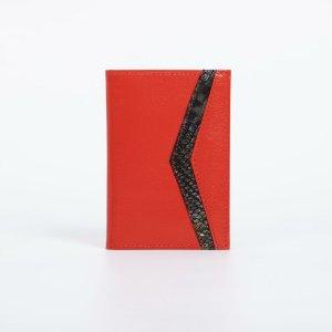 Обложка для паспорта, цвет алый TEXTURA