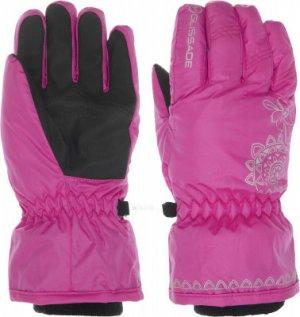 Перчатки для девочек , размер 6 Glissade. Цвет: розовый