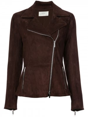 Paylee asymmetric suede biker jacket The Row. Цвет: коричневый