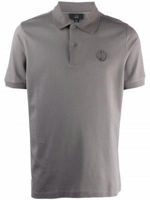 Рубашка поло с вышитым логотипом Dunhill. Цвет: серый