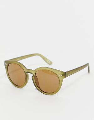 Зеленые круглые солнцезащитные очки Inspire эксклюзивно для ASOS-Зеленый Reclaimed Vintage